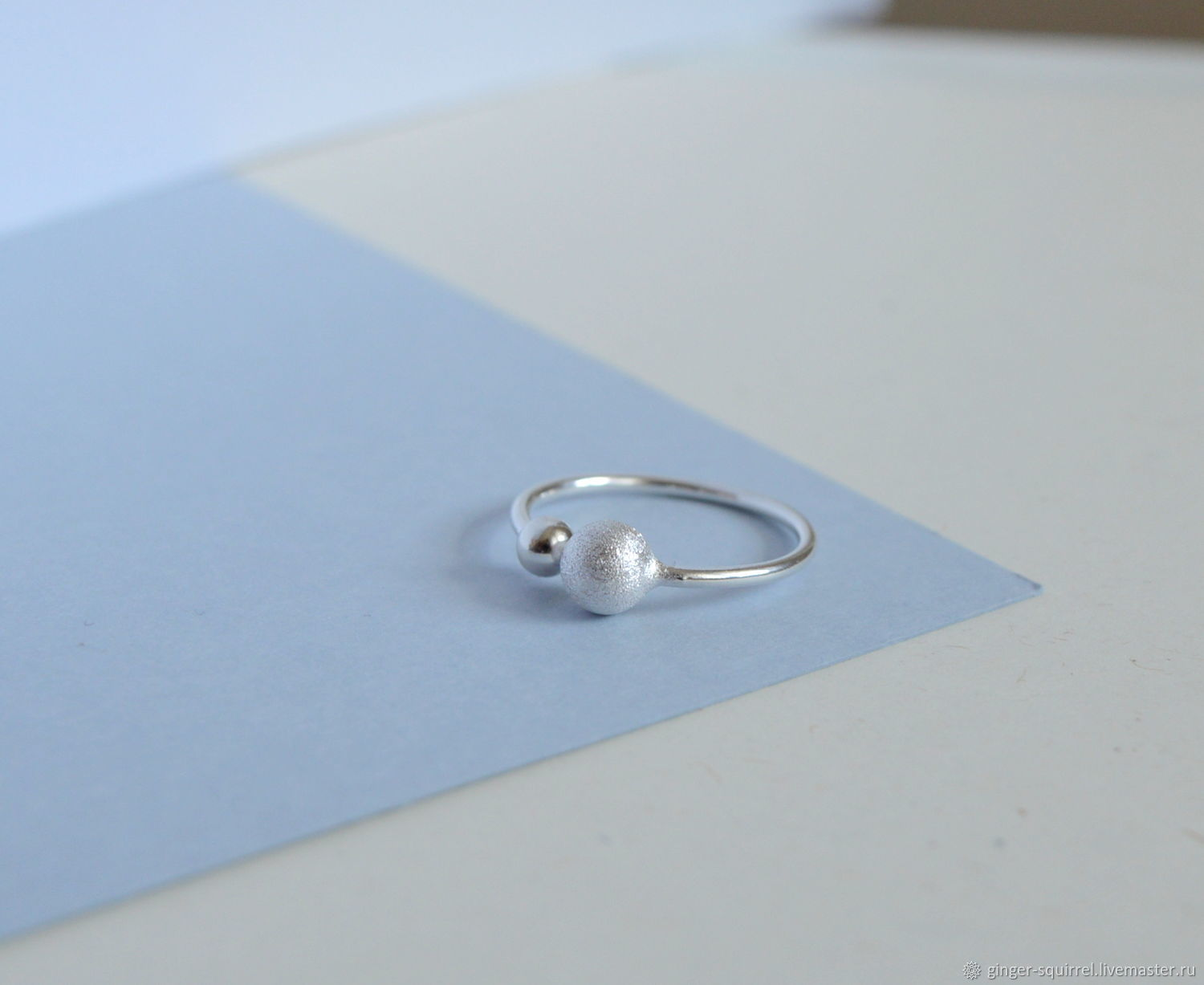 Silver ring with balls, Rings, St. Petersburg,  Фото №1