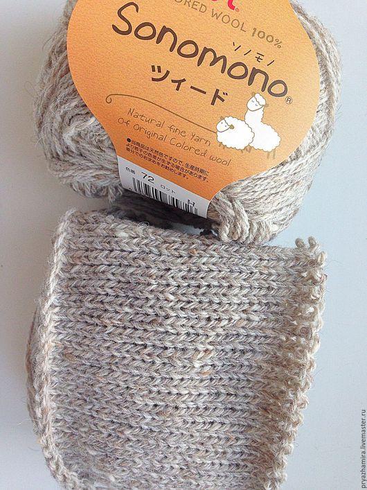 Вязание ручной работы. Ярмарка Мастеров - ручная работа. Купить Пряжа Sonomono тон 72 (Япония). Handmade. Серый
