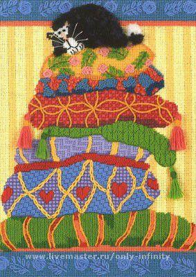 Животные ручной работы. Ярмарка Мастеров - ручная работа. Купить Percy on Pillows Перс на подушках). Handmade. Кот, юмор