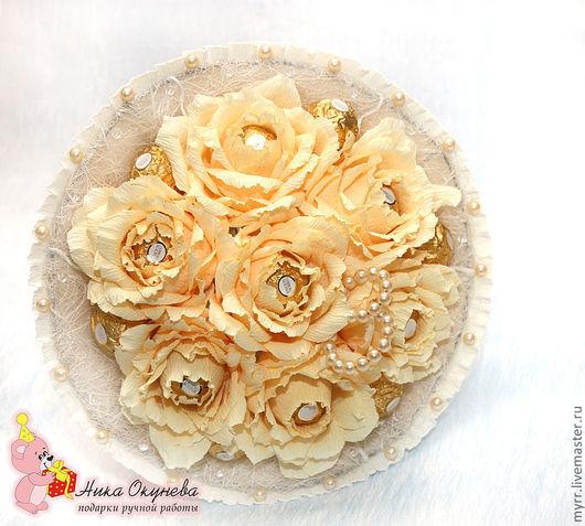 Букеты ручной работы. Ярмарка Мастеров - ручная работа. Купить Букет из конфет розы букет невесты дублёр. Handmade.