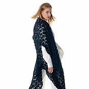 Одежда ручной работы. Ярмарка Мастеров - ручная работа Кардиган трансформер ажурный ручной работы из альпаки на шелке. Handmade.