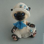 Куклы и игрушки ручной работы. Ярмарка Мастеров - ручная работа Бисерная кошечка Незабудка. Handmade.