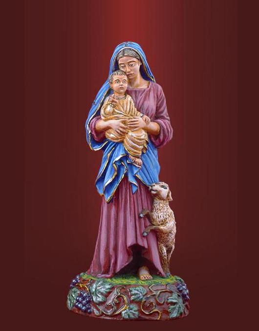 Подарки на Пасху ручной работы. Ярмарка Мастеров - ручная работа. Купить Пресвятая Богородица с младенцем. Handmade. Олово, богородица, олово