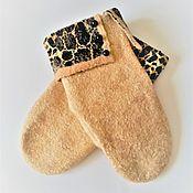 Аксессуары handmade. Livemaster - original item Felted Safari Mittens. Handmade.