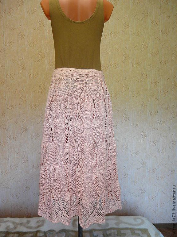 Ажурная юбка ананасами