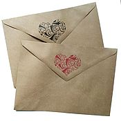Материалы для творчества ручной работы. Ярмарка Мастеров - ручная работа Крафт-конверт С5 с принтом. Handmade.