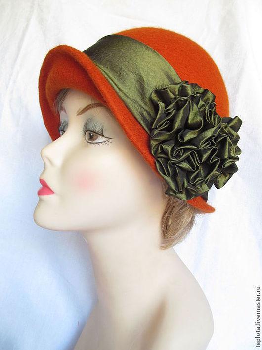 """Шляпы ручной работы. Ярмарка Мастеров - ручная работа. Купить шляпка валяная """"Краски осени"""". Handmade. Рыжий, шляпа женская"""