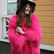 Одежда ручной работы. Ярмарка Мастеров - ручная работа Розовая шуба из ламы. Handmade.