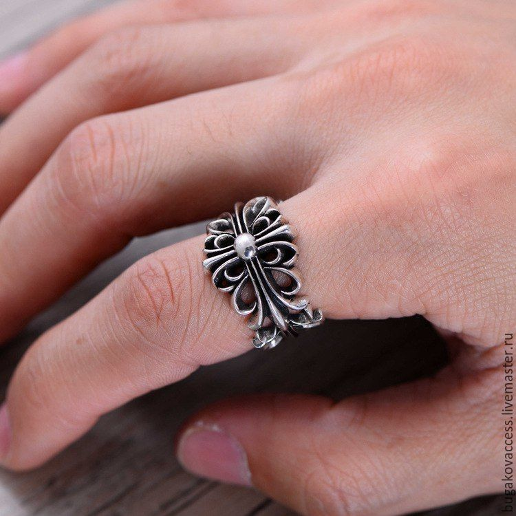 Ring in the form of a cross from silver 925 unisex, Rings, Moscow,  Фото №1