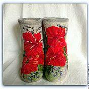 """Обувь ручной работы. Ярмарка Мастеров - ручная работа Валеночки """"Гибискус"""". Handmade."""