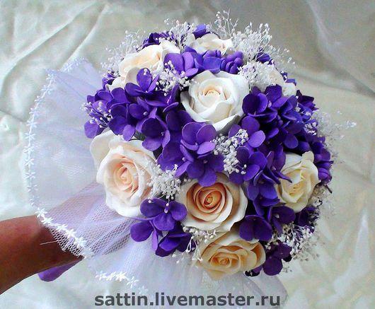 """Свадебные цветы ручной работы. Ярмарка Мастеров - ручная работа. Купить Букет невесты """"Восхищение"""" (Сделан из японской глины DECO). Handmade."""
