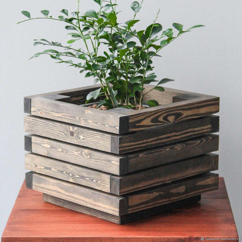 деревянные кашпо для цветов своими руками фото пойдет исключительно