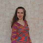 """Одежда ручной работы. Ярмарка Мастеров - ручная работа Пуловер вязаный """"Калейдоскоп"""". Handmade."""