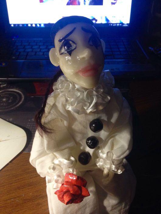 Коллекционные куклы ручной работы. Ярмарка Мастеров - ручная работа. Купить Пьеро. Handmade. Белый, сказка, стул