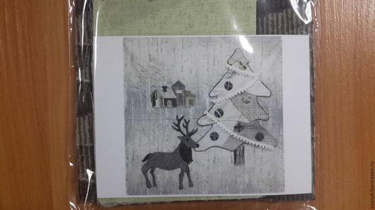 """Другие виды рукоделия ручной работы. Ярмарка Мастеров - ручная работа. Купить Набор для аппликации Йоко Сайто """"Новогодний"""". Handmade."""