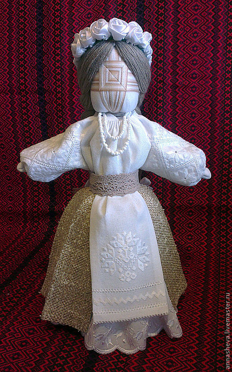 Народные куклы ручной работы. Ярмарка Мастеров - ручная работа. Купить Кукла мотанка Светланка. Handmade. Белый, текстильная кукла