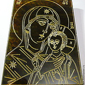 Картины и панно handmade. Livemaster - original item Amber. Petrovskaya Mother Of God R-015. Handmade.