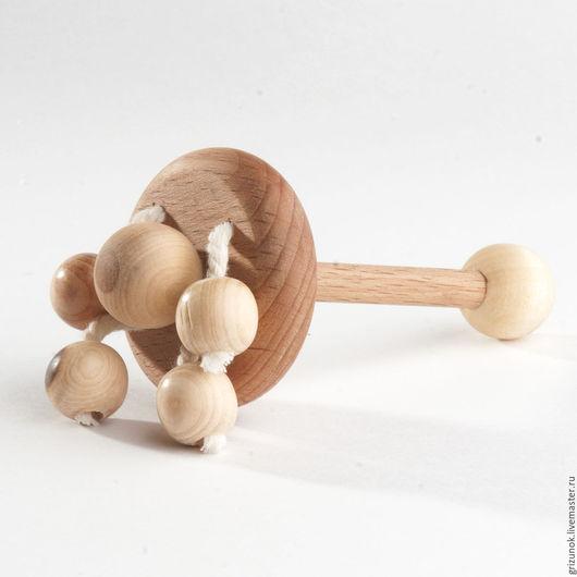 """Развивающие игрушки ручной работы. Ярмарка Мастеров - ручная работа. Купить Погремушка """"Каруселька"""". Handmade. Деревянная погремушка, погремушка с бусами"""