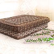 Для дома и интерьера ручной работы. Ярмарка Мастеров - ручная работа Плетеный короб для хранения документов формата А4. Handmade.