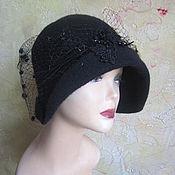 """Аксессуары handmade. Livemaster - original item feminine flapper hat """"Cloche """":  wool, knitted, felted"""""""". Handmade."""