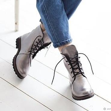 Обувь ручной работы. Ярмарка Мастеров - ручная работа Женские ботинки в стиле гранж Anna Chaqrua. Handmade.