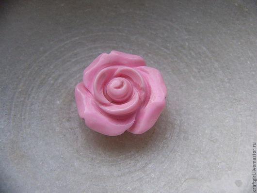 Для украшений ручной работы. Ярмарка Мастеров - ручная работа. Купить Роза, 20 мм. Handmade. Бледно-розовый