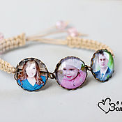 Украшения handmade. Livemaster - original item Custom photo bracelet. Handmade.