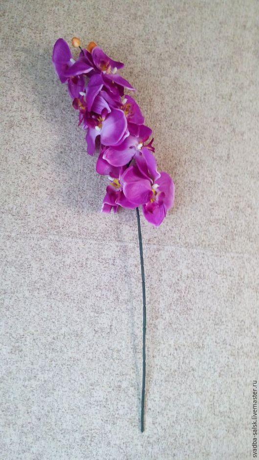 Материалы для флористики ручной работы. Ярмарка Мастеров - ручная работа. Купить Орхидея искусственная сиреневая. Handmade. Разноцветный, цветы искусственные