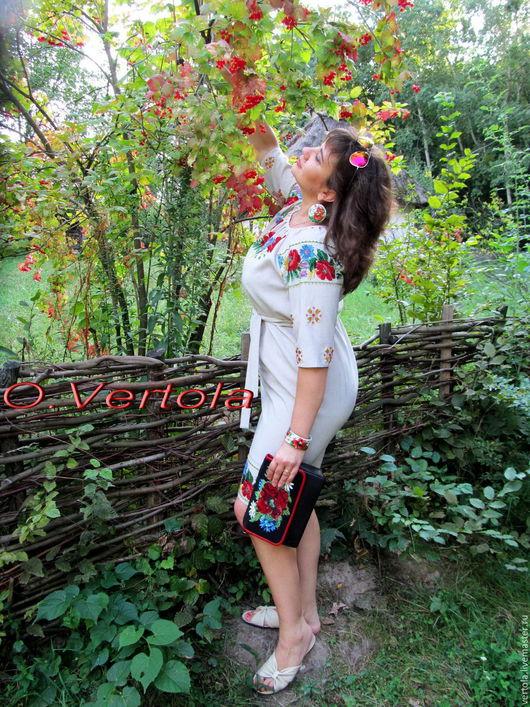 """Платья ручной работы. Ярмарка Мастеров - ручная работа. Купить Платье """"Романтика полевых цветов"""".вышивка бисером.размер 52-54. Handmade."""