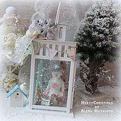 Подарки к праздникам ручной работы. Ярмарка Мастеров - ручная работа Новогодний фонарь со снеговиком. Handmade.