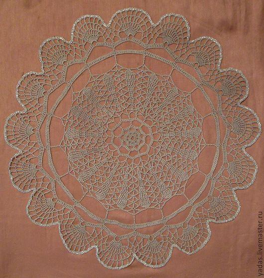 Текстиль, ковры ручной работы. Ярмарка Мастеров - ручная работа. Купить Ажурная салфетка. Handmade. Серый, нитки Ирис