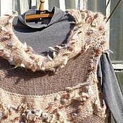 Одежда ручной работы. Ярмарка Мастеров - ручная работа Туника теплая Клочки по закоулочкам. Handmade.