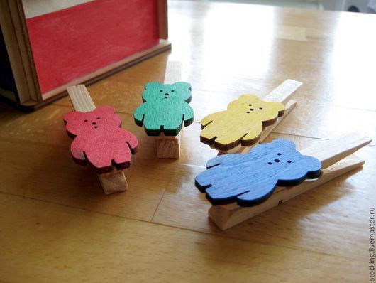 Развивающие игрушки ручной работы. Ярмарка Мастеров - ручная работа. Купить Развивающие игрушки Мишки-прищепки.. Handmade. Развивающая игрушка