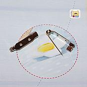 Материалы для творчества ручной работы. Ярмарка Мастеров - ручная работа Основа для броши 20мм и 30мм (F01) стальная булавка. Handmade.
