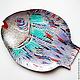 Животные ручной работы. Панно Рыба серебряная бол.. Оза (decor33). Ярмарка Мастеров. Картина, подарок семье, подвес