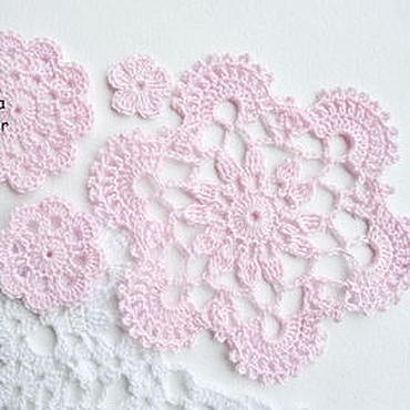 Materials for creativity handmade. Livemaster - original item A set of doilies and crochet flowers. Handmade.