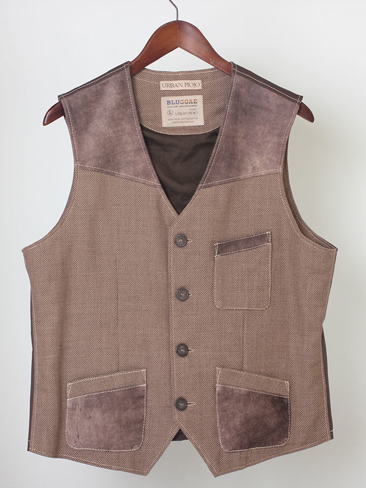 Urban Mojo 02 men's wool and leather vest, Mens vests, Moscow,  Фото №1