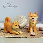 Подарки к праздникам ручной работы. Ярмарка Мастеров - ручная работа Статуэтки собак породы Сиба-Ину. Handmade.