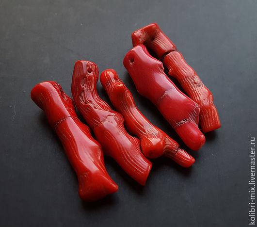 Для украшений ручной работы. Ярмарка Мастеров - ручная работа. Купить сет коралл натуральный. Handmade. Ярко-красный