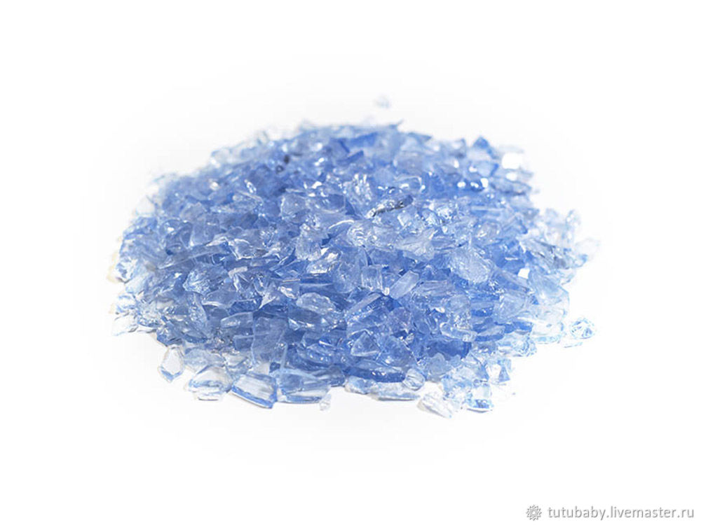 Стеклянная крошка голубая, фракция 7 - 15 мм, Материалы, Бузулук,  Фото №1
