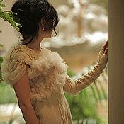 Одежда ручной работы. Ярмарка Мастеров - ручная работа авторское платье из шелка и шерсти Эдельвейс. Handmade.