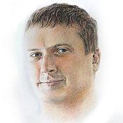 Картины и панно ручной работы. Ярмарка Мастеров - ручная работа Портрет по фото на заказ, А3, цветные карандаши. Handmade.
