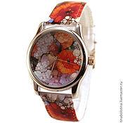 Украшения ручной работы. Ярмарка Мастеров - ручная работа Дизайнерские наручные часы Мозаичные Цветы. Handmade.