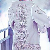 """Одежда ручной работы. Ярмарка Мастеров - ручная работа пальто """"Фарфоровый узор"""" для осени. Handmade."""