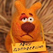 Куклы и игрушки ручной работы. Ярмарка Мастеров - ручная работа кот  психотерапевт для снятия плохого настроения. Handmade.