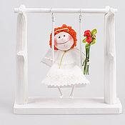 Куклы и игрушки ручной работы. Ярмарка Мастеров - ручная работа Ангелочек на качелях. Handmade.