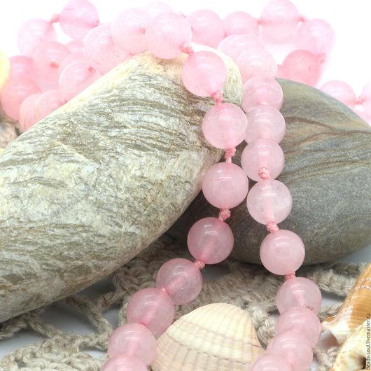 Для украшений ручной работы. Ярмарка Мастеров - ручная работа. Купить Розовый кварц бусины шар 8мм - арт.8-20. Handmade.