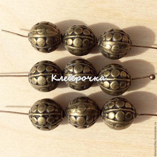 Для украшений ручной работы. Ярмарка Мастеров - ручная работа. Купить .Бусины 10 мм металл цвет латунь(бронза) для украшений. Handmade.