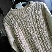 Одежда handmade. Livemaster - original item Sweater Alice from kid mohair and cotton. Handmade.