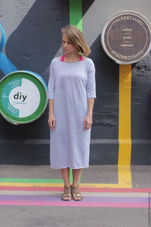 Для будущих и молодых мам ручной работы. Ярмарка Мастеров - ручная работа. Купить Тоикотажное платье с длинными рукавами. Handmade.